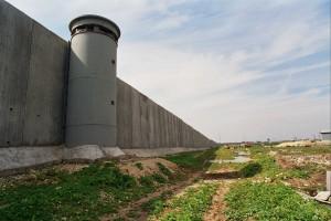 the Israeli apartheid wall in Qalqiliya, West Bank