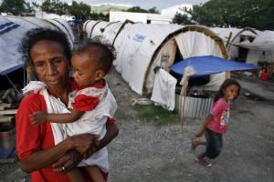Refugee camp in East Timor