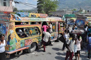 Haiti-colorful-bus-on-street
